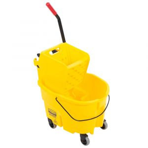 Rubbermaid Wavebrake 26Qt. Yellow Mop Bucket with side press wringer