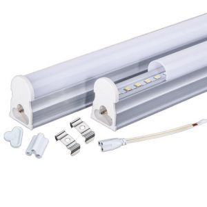 LED tube lamp, T5, 3000-3500K Warm White (2ft, 10W)