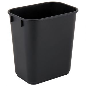 Lavex Janitorial 13 Qt. / 3 Gallon black rectangular Wastebasket