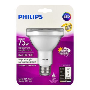 Philips LED 110V, PAR30 / E26, Dimmable, Long neck, per piece light bulb