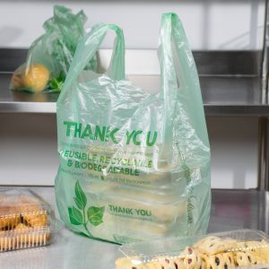 Green Herc 1/6 size Biodegradable plastic bag (per 100)
