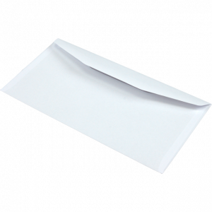 Envelope with Adhesive Strip, White, 110x220mm, 80g,  500pcs