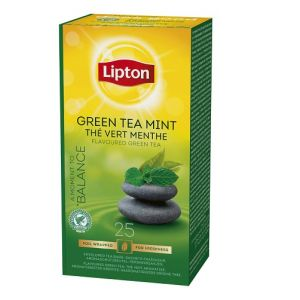 Lipton Prof. Green Tea Mint, 25pcs