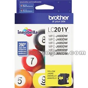 Brother LC201Y Yellow Ink Cartridge voor Brother MFC J880DW