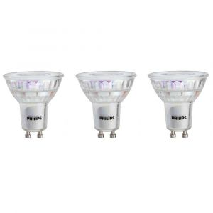 Philips LED 110V, GU10, Dimmable, 3-pack light bulb
