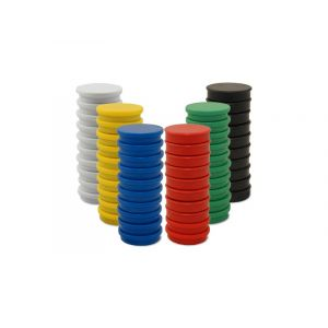 Whiteboard Magnets, 20mm, Assorted Colors, 10pcs